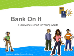 Money Smart Module 01 - BANK ON IT PowerPoint