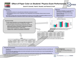 Effect of Paper Color on Students` Physics Exam