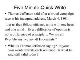 Ch 6_3 Jefferson Alters the Nation_s Course