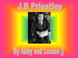 JB Priestley - Annan Academy English Department Blog