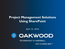 SharePoint and Project Management