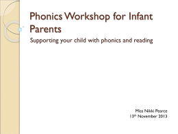 Letters and Sounds Powerpoint - parents