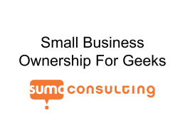 PowerPoint - Sumo Consulting