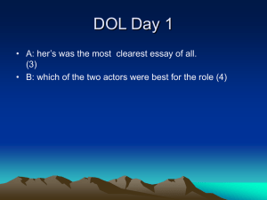 A: her`s was the most clearest essay of all. B: which of the two actors