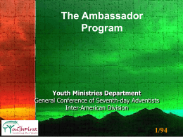 AY Ambassador Program Guidelines - Purcell Seventh