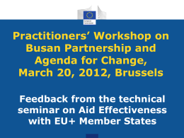 Presentation of EC DEVCO A3 - Practitioners Network of European