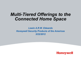 Honeywell Presentation (March 22, 2012)