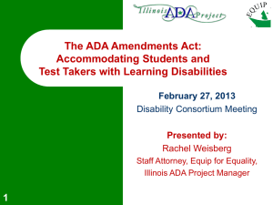 ADA and Learning Disabilities
