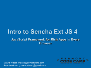 Intro to Sencha Ext JS 4