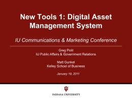 Web Content Management at IU