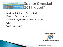here. - Mesa Verde Science Olympiad