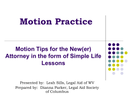V Motion Practice Powerpoint BLST 2013