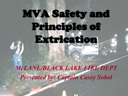 MVA Safety and Principles of Extrication ppt