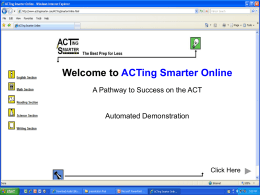 DEMO - ACTing Smarter Online