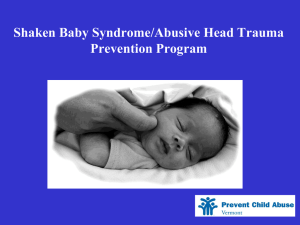 Shaken Baby Syndrome Prevention Program