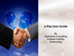 epay 5.0 User Guide