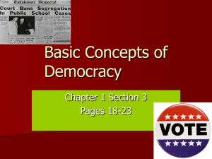 Basic Concepts of Democracy Ch 1 sect 3