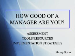Mickey Stone management presentation