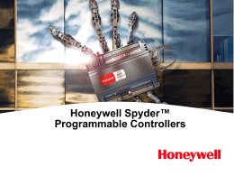 Spyder Controllers The power and flexibility of a plant