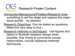Research Poster Tips - School of Electrical and Computer Engineering