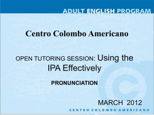 OPEN TUTORING SESSION PRONUNCIATION