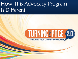 Use this PPT about the training to recruit others to your advocacy