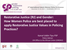 Restorative Justice and Gender-Pakistan