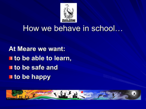 How we behave in school… - Meare Village Primary School