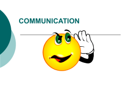 3 Basics of Communication and Team Working