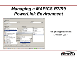 Managing R7 and R9 Environment with PowerLink 10-21