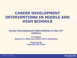 Career Development Interventions in Middle/Jr