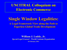 UNCITRAL Colloquium on Electronic Commerce
