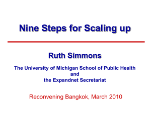 Nine Steps for Scaling-Up
