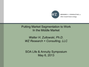 Putting Market Segmentation to Work in the Middle Market