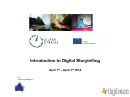 Intro to digital storytelling