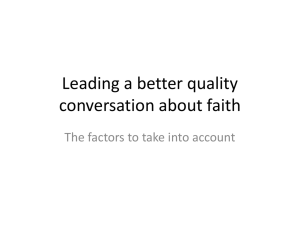 Leading a better quality of conversation about faith