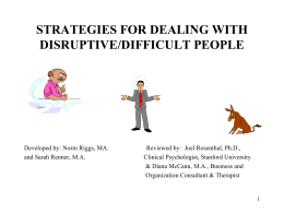 Strategies to Deal With Difficult People