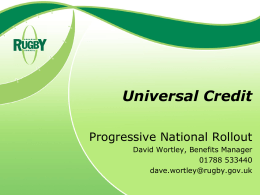 Universal Credit - Tamworth Borough Council