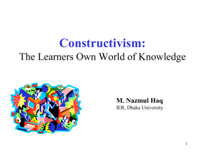 Constructivism and teaching-R - Tdi