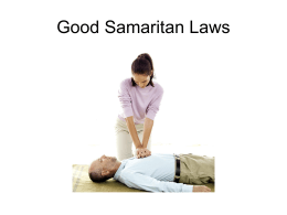 Good Samaritan Laws