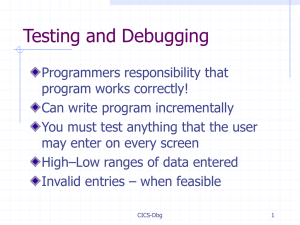 Debug Aids - Columbus State University