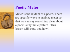 An Explanation of Poetic Meter