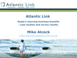 Rapid e-learning business benefits – case studies and survey results