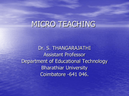MICRO TEACHING - Academic Staff College