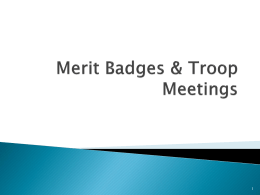 Merit Badges & Troop Meetings