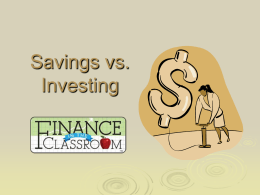 Savings vs Investments PPT