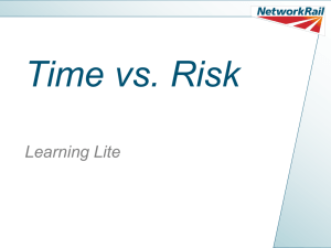 Time Vs. Risk