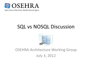 SQL vs NOSQL Discussion