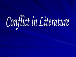 Creative Writing Conflict Powerpoint