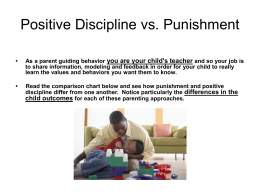 Positive Discipline vs. Punishment